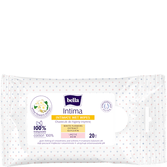 Bella Intima wet wipes