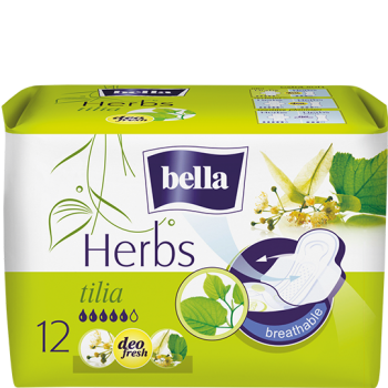 Bella Herbs sanitary pads with linden flower