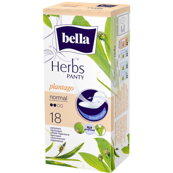 Bella Herbs pantyliners with narrowleaf plantain extract – normal